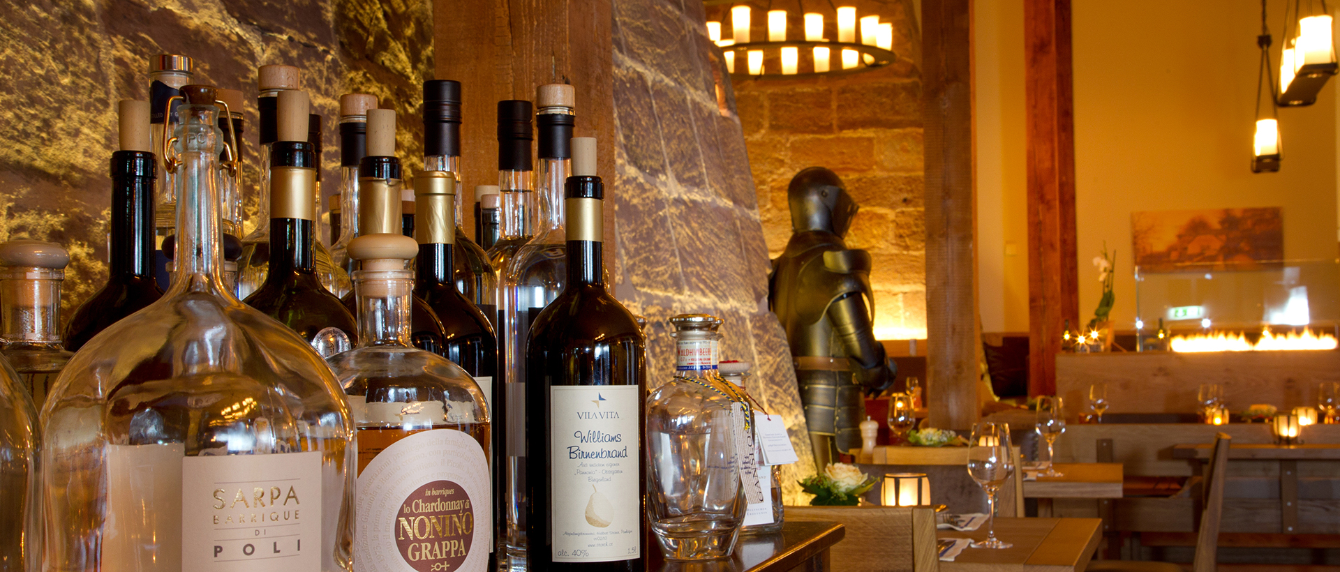 Weinkarte im Restaurant Bückingsgarten