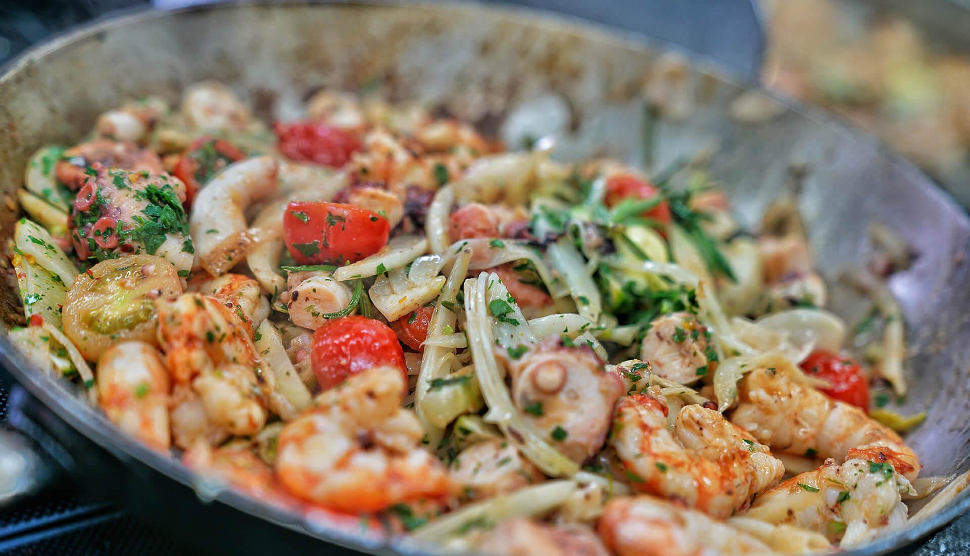 Essen und trinken im Restaurant Bückingsgarten