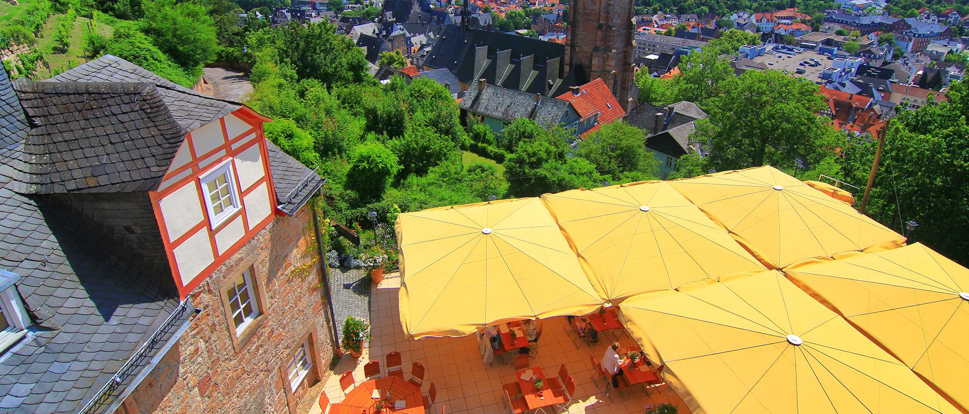 Der Biergarten des Restaurant Bückingsgarten